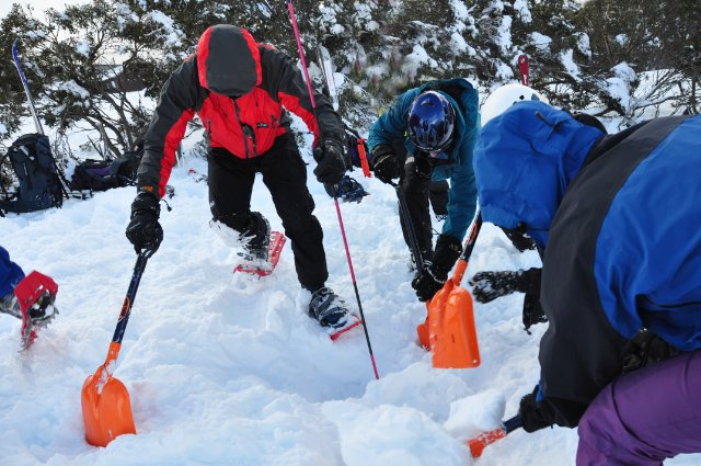 BSAR steep snow and ice training at Mount Hotham 2009