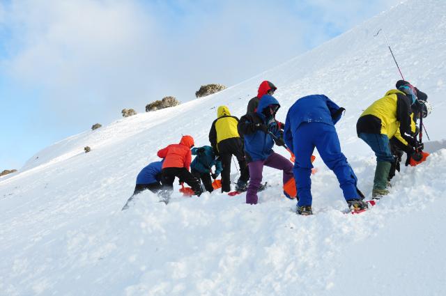 Avalanche rescue training