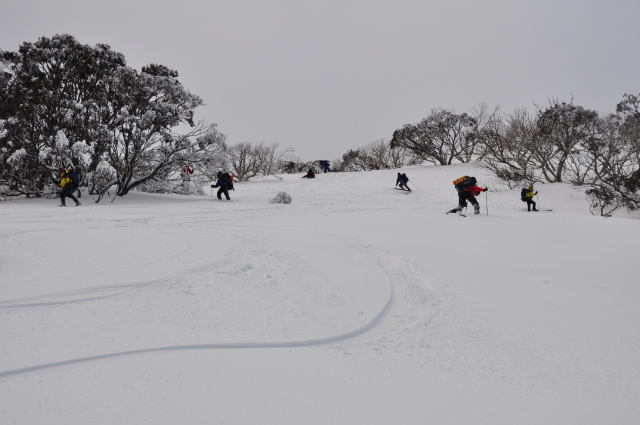 Australian Powder at Mount Hotham, on our way to the campsite