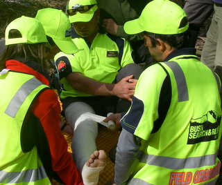 First Aid scenario during the October Training Weekend 2009