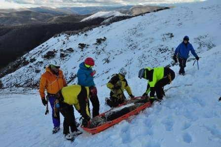 Steep snow and ice training