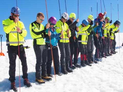 2014 BSAR Steep Snow and Ice training on the Razorback
