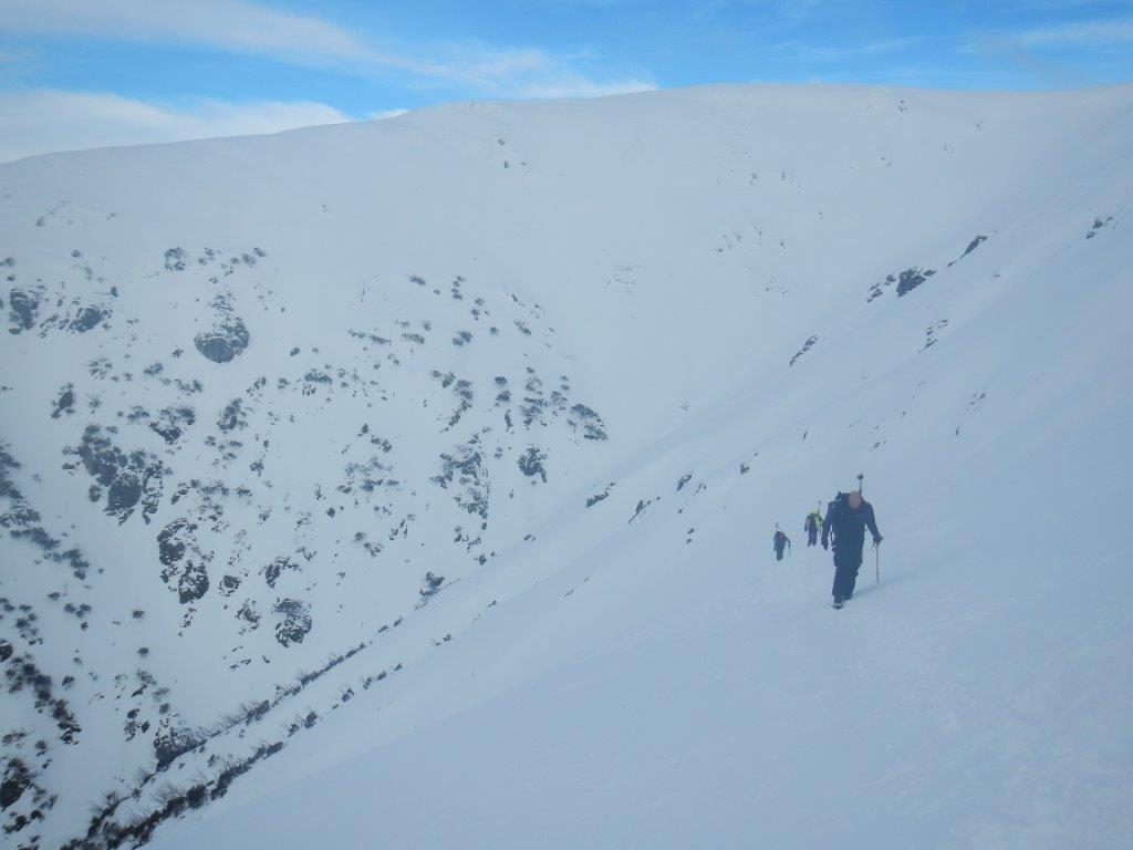 Climbing out of Snowy Creek, Mt Bogong