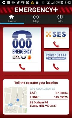 Emergency Plus Screen 1