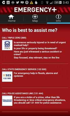 Emergency Plus Screen 3
