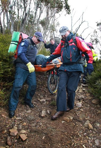 Mount Bogong stretcher evacuation