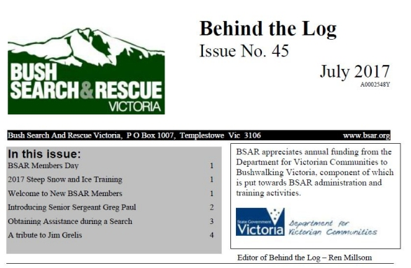 Behind The Log July 2017