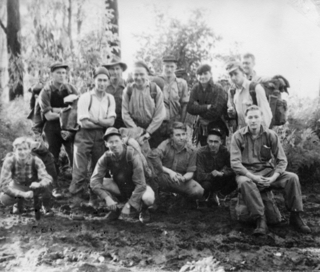 BSAR search group near Marysville, 1952