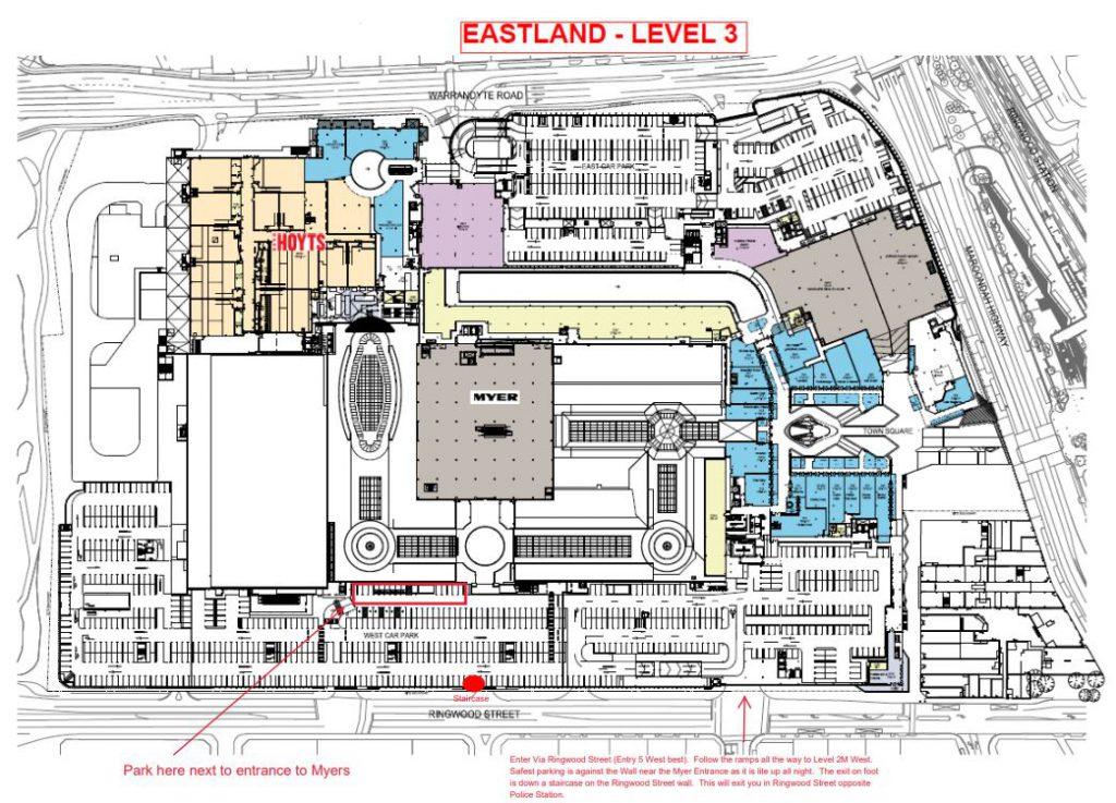 Eastland parking map