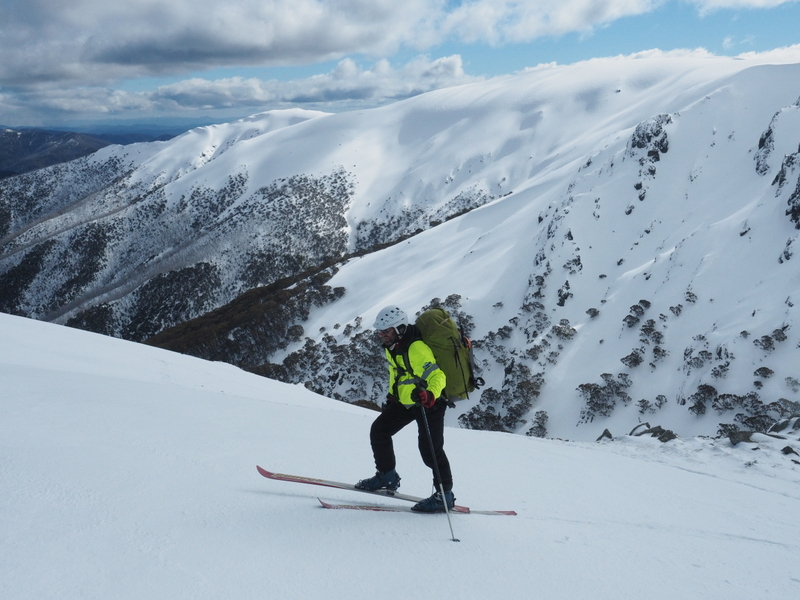 2017 Bogong search - searching on skis