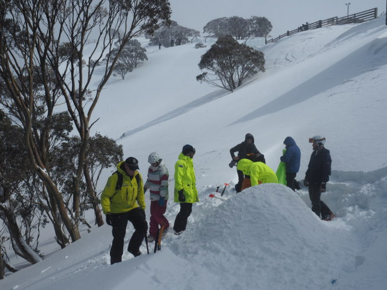 Building snow shelters